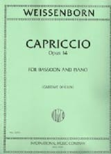 Julius Weissenborn - Capriccio Op 14 - Sheet Music - di-arezzo.co.uk