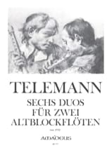 6 Duos für 2 Altblockflöten (1752) laflutedepan.com