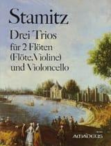Carl Stamitz - 3 Trios für 2 Flöten Violoncello - Stimmen - Partition - di-arezzo.fr