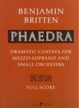 Phaedra op. 93 – Score Benjamin Britten Partition laflutedepan.com