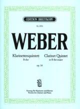 Klarinettenquintett B-Dur op. 34 -Klarinette Klavier laflutedepan.com