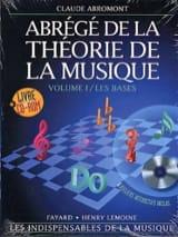 Abrégé de la théorie de la musique Volume 1 Rom - laflutedepan.com