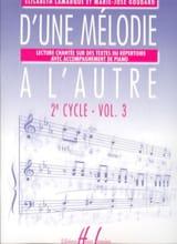 D'une Mélodie à L'autre Vol. 3 - 2ème Cycle laflutedepan.com