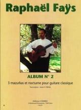 Raphael Fays - Album N°2 - 3 Mazurkas et Nocturne - Partition - di-arezzo.fr