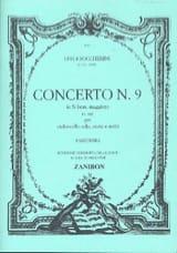 BOCCHERINI - Concerto n° 9 Cello, si bem. maggiore G. 482 - Partition - di-arezzo.fr