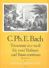 Carl Philipp Emanuel Bach - Sonate c-moll Wq 161 Nr. 1 - Partition - di-arezzo.fr