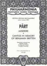 Cantus In Memory Of Benjamin Britten / Misere laflutedepan.com