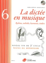 Pierre CHEPELOV et Benoit MENUT - The Dictation in Music Volume 6 - Sheet Music - di-arezzo.co.uk