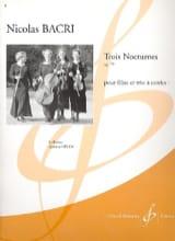 Trois Nocturnes op. 79 - Flûte et trio à cordes laflutedepan.com