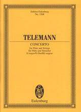 Flöten-Konzert D-Dur TELEMANN Partition laflutedepan.com