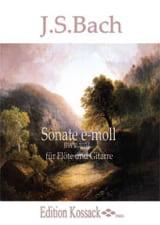 Sonate e-moll BWV 1034 - Flöte Gitarre BACH laflutedepan.com