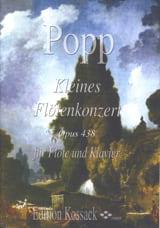 Kleines Flötenkonzert Opus 438 Wilhelm Popp Partition laflutedepan.com