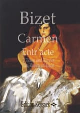 Carmen Entr'acte - 2 Flöten Klavier Fl. Klar. Kl. laflutedepan.com