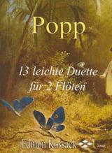 13 Leichte Duette - Wilhelm Popp - Partition - laflutedepan.com