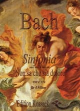 BACH - Sinfonia BWV 219 - Partition - di-arezzo.fr