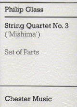 Philip Glass - String Quartet n° 3 – Parts - Partition - di-arezzo.fr