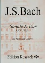 Sonate E-Dur BWV 1035 - Flöte Gitarre BACH Partition laflutedepan.com