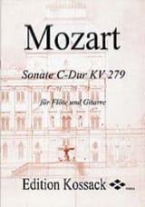 Sonate C-Dur KV 279 - Flöte Gitarre MOZART Partition laflutedepan.com