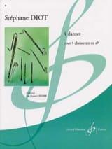 4 Danses Stéphane Diot Partition Clarinette - laflutedepan.com