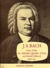 Johann Sebastian Bach - Sonata F-Dur, BWV 1035 – Altblockflöte und Cemb. - Partition - di-arezzo.fr