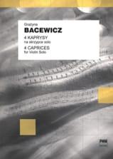 4 Kaprysy Grazyna Bacewicz Partition Violon - laflutedepan.com