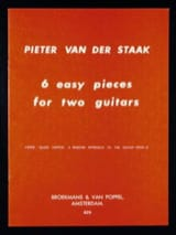 6 Easy pieces for 2 guitars Pieter van der Staak laflutedepan.com