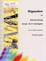 Edvard Grieg - rigaudon - Sheet Music - di-arezzo.co.uk