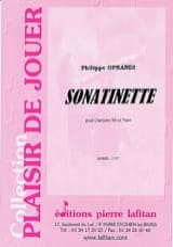 Sonatinette - Philippe Oprandi - Partition - laflutedepan.com