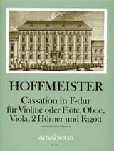 Franz Anton Hoffmeister - Cassation in F-Dur -Violine Flöte Oboe Viola 2 Hörner Fagott - Part. + St. - Partition - di-arezzo.fr