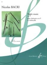 Night Music op. 73 Nicolas Bacri Partition Duos - laflutedepan.com