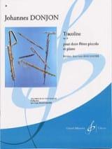 Tracoline op. 6 Johannes Donjon Partition Trios - laflutedepan.com