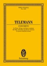 Flöten-Konzert e-moll TELEMANN Partition laflutedepan.com