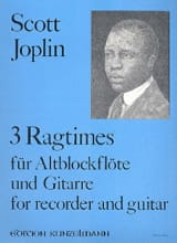 3 Ragtimes - Flûte A Bec et Guitare Scott Joplin laflutedepan.com