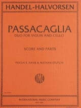 HAENDEL - Passacaglia - Violin cello - Partition - di-arezzo.fr