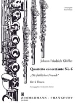 Johann Friedrich Klöffler - Quartetto concertante n° 6 – 4 Flöten - Partition - di-arezzo.fr