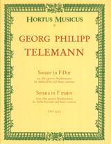 Georg Philipp Telemann - Sonate in F-Dur – Altblockflöte u. Bc - Partition - di-arezzo.fr