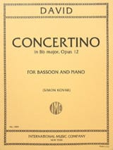 Ferdinand David - Concertino op. 12 - Bassoon piano - Partition - di-arezzo.fr