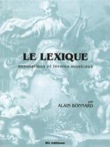 Le Lexique Alain Bonnard Partition Théories - laflutedepan.com
