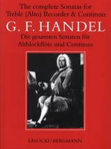 Georg Friedrich Haendel - Complete Sonatas - Alto Recorder And Bc - Partition - di-arezzo.fr