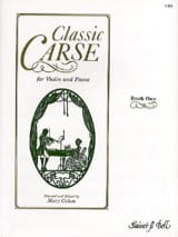 Classic Carse, book 1 Adam Carse Partition Violon - laflutedepan.com