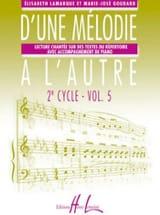 D'une mélodie à l'autre – Volume 5 - 3ème Cycle laflutedepan.com