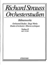 Richard Strauss - Orchesterstudien Violine 2, Heft 1 - Partition - di-arezzo.fr