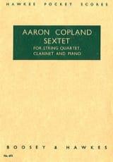 Sextet – Partitur - Aaron Copland - Partition - laflutedepan.com