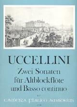2 Sonaten - Altblockflote u. Bc Marco Uccellini laflutedepan.com