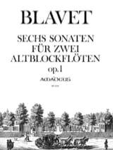 6 Sonates Opus 1 - Michel Blavet - Partition - laflutedepan.com