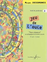 Marybel Dessagnes - Jeu de L'ouïe - Volume 2 - Prof - Partition - di-arezzo.fr
