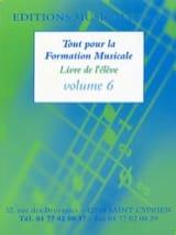 Tout pour la formation musicale Volume 6 Partition laflutedepan.com