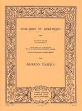 Sicilienne et Burlesque Alfredo Casella Partition laflutedepan.com