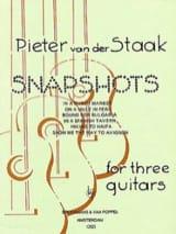 Snapshots –3 Guitars Peter van der Staak Partition laflutedepan.com