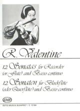 Robert Valentine - 12 Sonaten - Partition - di-arezzo.fr